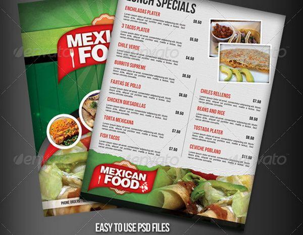 30+ Food Menus Templates for Café and Restaurants Ginva - free food menu template