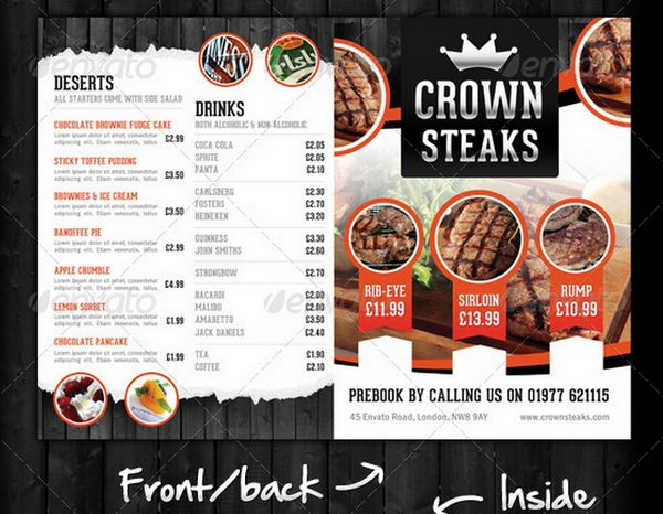 Top Result 60 New Restaurant Menu Psd Template Free Picture 2017