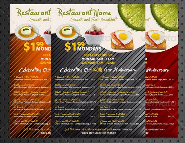 30+ Food Menus Templates for Café and Restaurants Ginva - food truck menu template