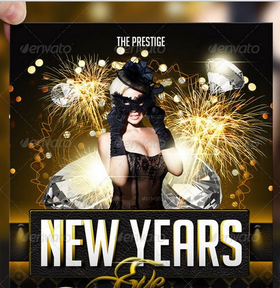 Awesome 2013 New Year Event Flyer Templates GinvaGinva - new year poster template
