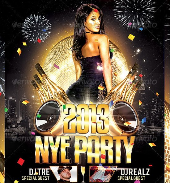 Awesome 2013 New Year Event Flyer Templates Ginva - free new years eve flyer template