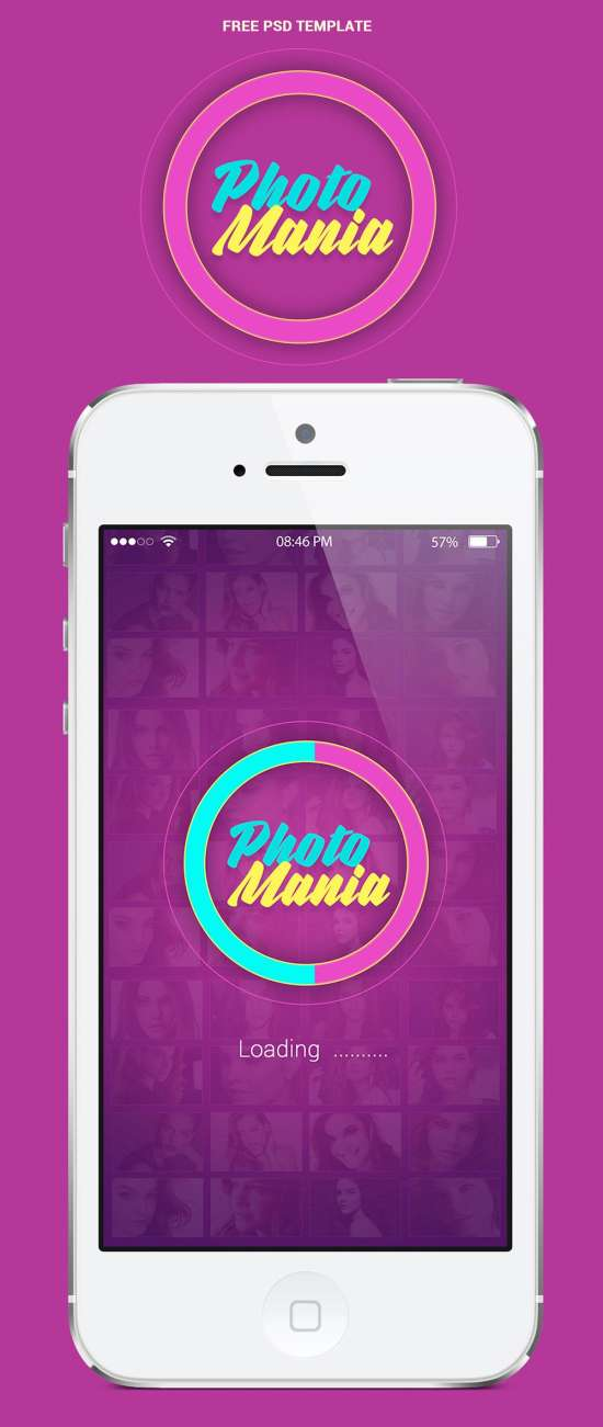 150+ Free App Mockup in PSD Templates Ginva - Free App Template