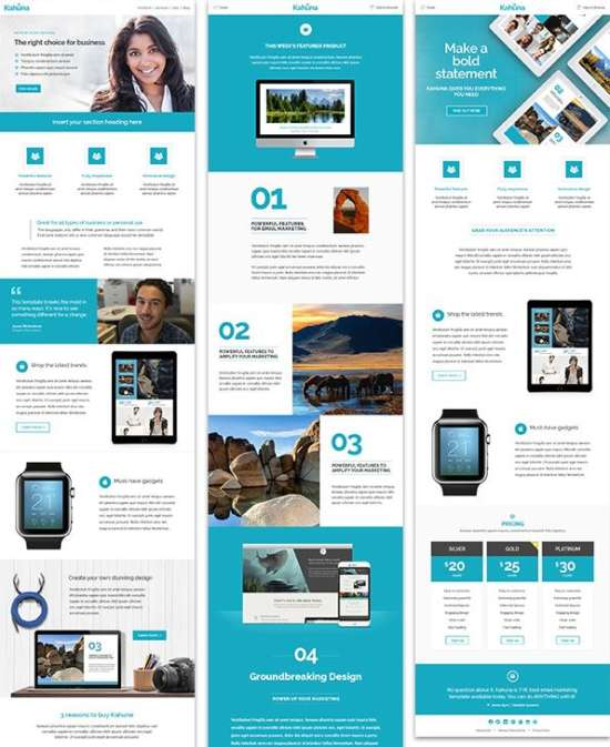 15 Free Responsive Email Templates That Look Great in Any Inbox Ginva - free responsive email template