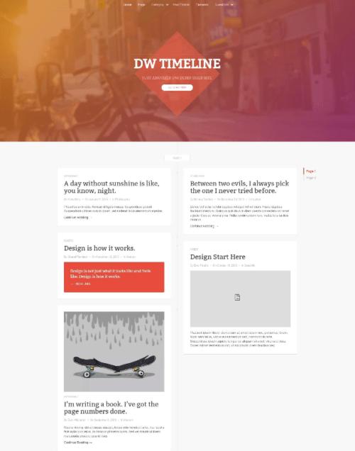 resume portfolio wordpress theme