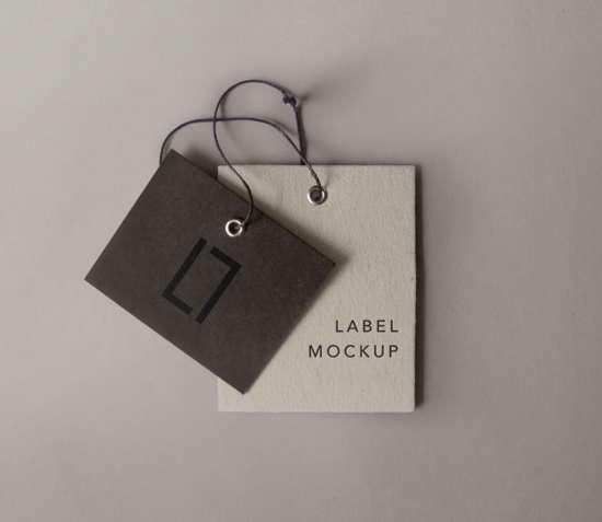 25+ Free Photorealistic PSD Apparel Label Tag Mockup Ginva