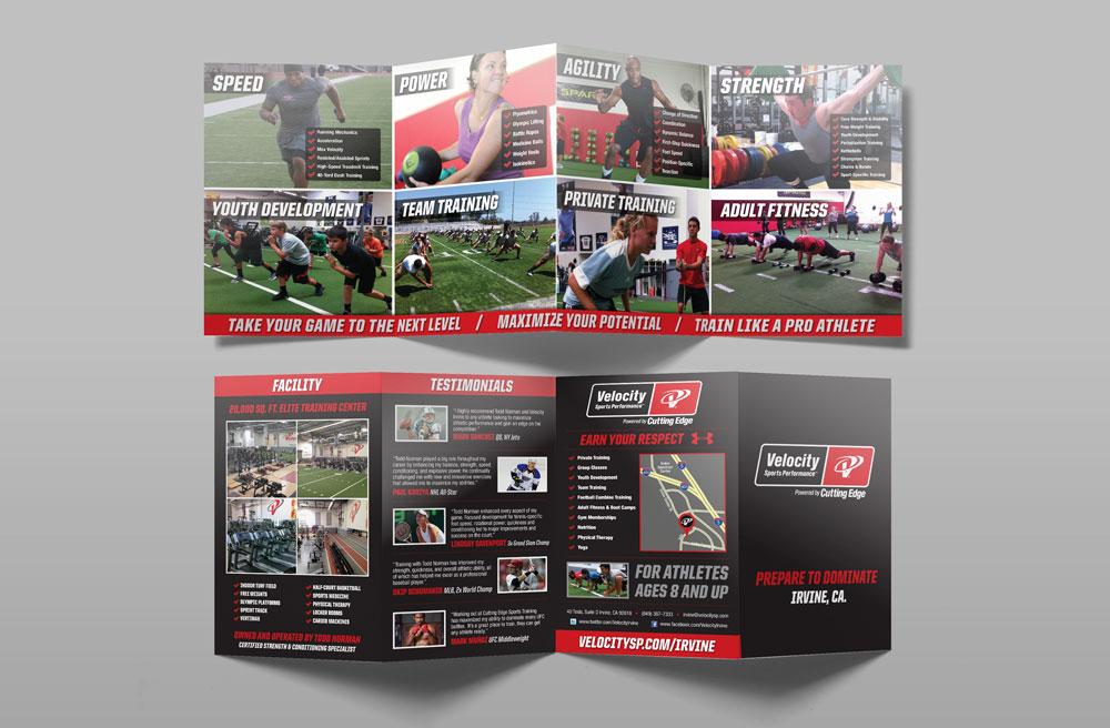 Velocity Sports Performance Giographix Studios - sports brochure