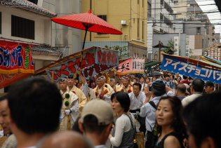 live yamabushi yama gion festival kyoto japan