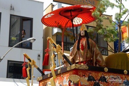 urade yama empress jingu deity statue divination gion festival kyoto japan