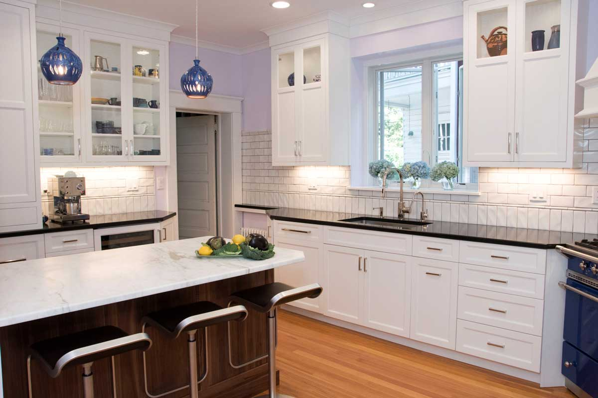 Black Design For Kitchen White Kitchen With A Blue Kitchen Stove In Wilmington Delaware