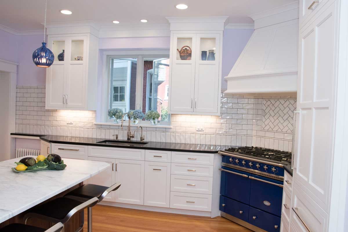 Blue Countertops White Cabinets White Kitchen With A Blue Kitchen Stove In Wilmington