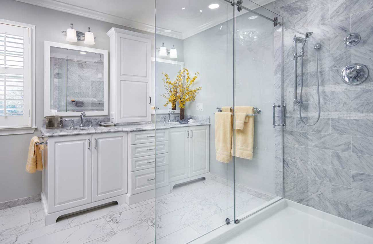 Houzz Bathroom Ideas Carrara Marble Countertops - Giorgi Kitchens & Designs