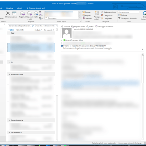 Outlook: comandi contestuali mail fuori posto? Touch Mode