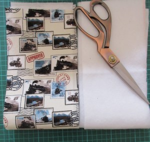 Strips of fabric and fusible fleece