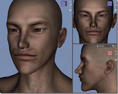 【Daz Studio4.6】ル・アさんの顔を作り直す。【シェイプ】