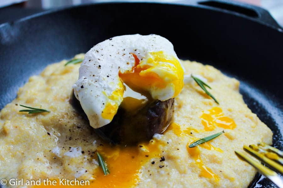 Gourmet Steak and Eggs Skillet - Girl and the Kitchen