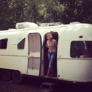 All is good in the trailerhood when Ruthie Collins hits the touring trail in her vintage Argosy. Ruthie's new LP is coming out soon on Curb Records.