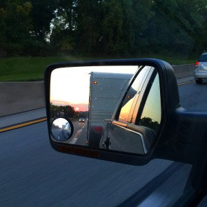 Things started out great as I hit the road at 5:15 am for Ohio and saw the sunrise in my drivers side mirror as I headed west.