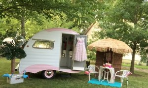 "The ""Grace"" trailer by Lisa and Gregg Patterson of Classy Chassis Vintage Trailers."