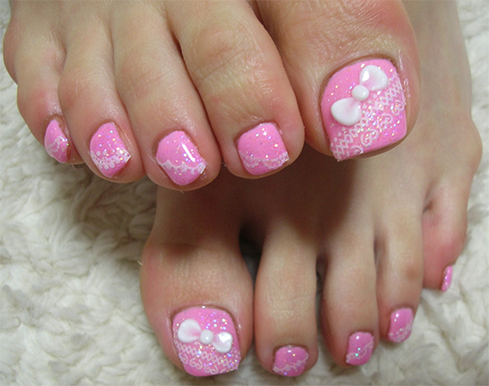 Top 10 Cute Pink Toe Nail Art Designs And Ideas Simply