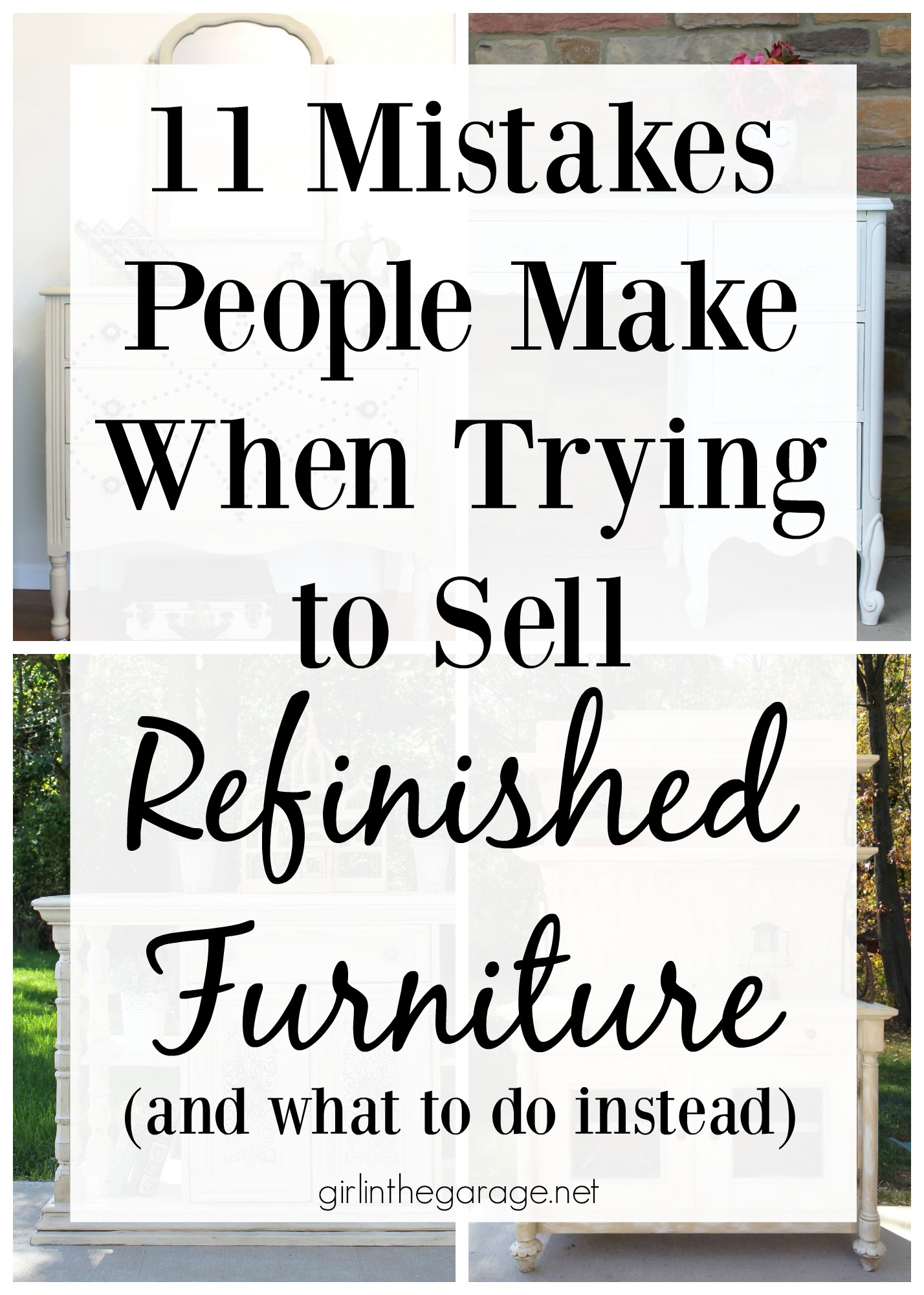 Garage Sale Book Prices 11 Mistakes People Make When Trying To Sell Refinished Furniture