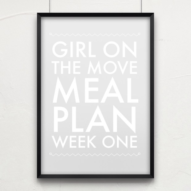 Meal Plan Week One | Girl on the Move Blog