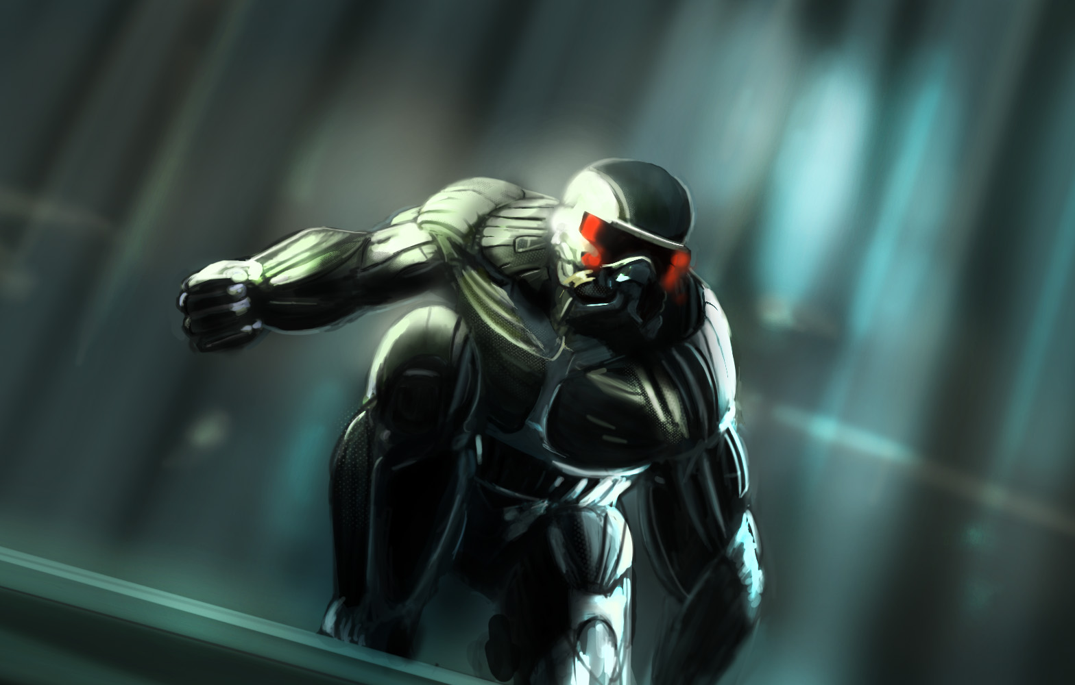 Mech Girl Wallpaper Crysis 2 Nanosuit Girls In Mech Suits