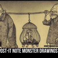 The Post-it Note Monster Drawings of Don Kenn