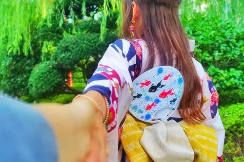 いっしょに行こう。夏祭り編のフリー写真素材(商用可)