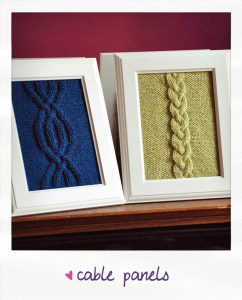 cable panels knitted wall art knitting pattern