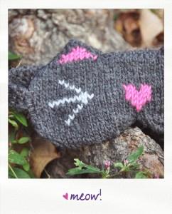 meow kitty cat cute knitted eye mask knitting pattern