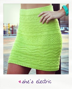 """She's Electric"" Aztec Pattern Bodycon Skirt"