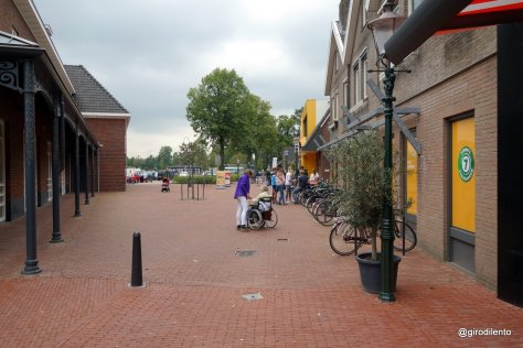 Outside the main supermarket - bikes have closest parking but drivers also well served