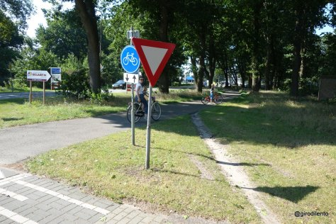 "A Dutch ""desire line"" showing a route the locals choose to take where the path isn't perfect"