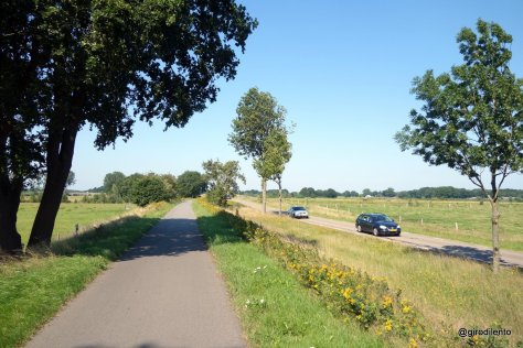 Another segregated path, this one alongside a busy rural driving road