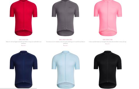 Rapha core men's jersey colour choices