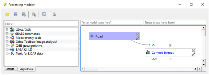 QGIS Graphical Modeler