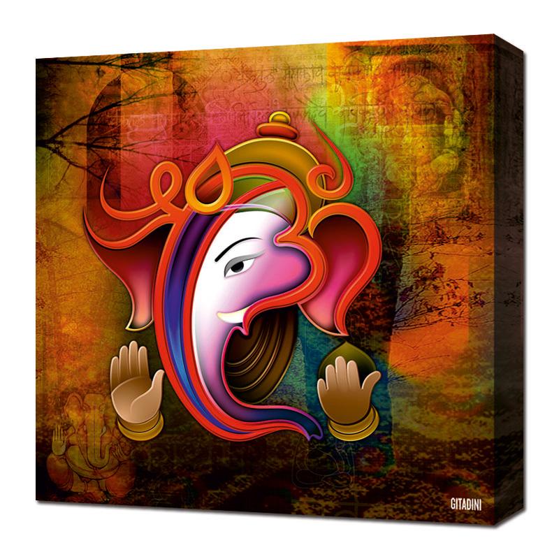 Canvas Wall Art  Ganesh Collage