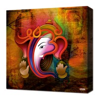 Canvas Wall Art  Ganesh Collage