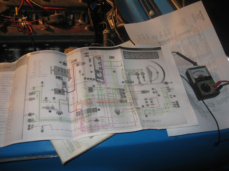 TI tidy seventeen lots and lots of wires Alfa Romeo Giuliettas