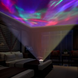 Led Night Lite Aurora Borealis Projector Speaker Led Decorative Night