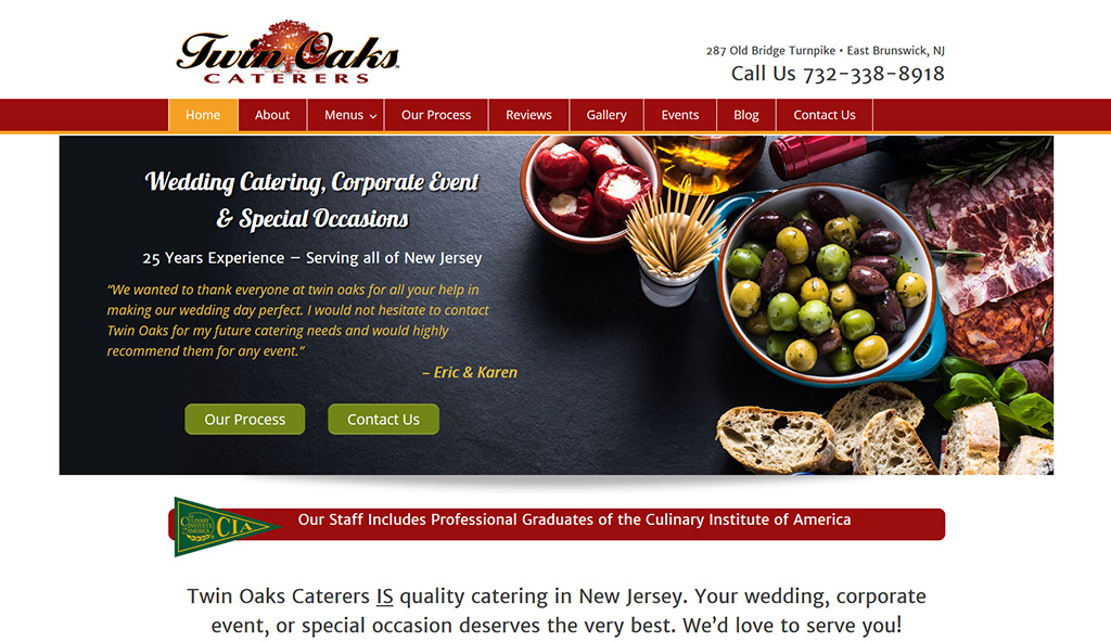 Restaurants and Catering - Web Design Monmouth County NJ, Local SEO
