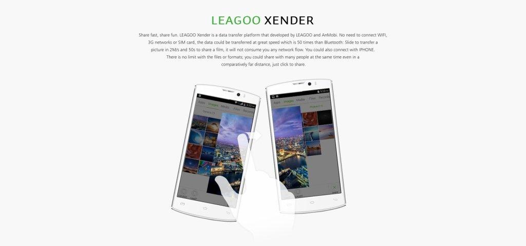 Работа с Leagoo Xender