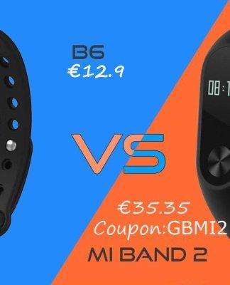 B6 vs Xiaomi Mi Band 2 Gearbest