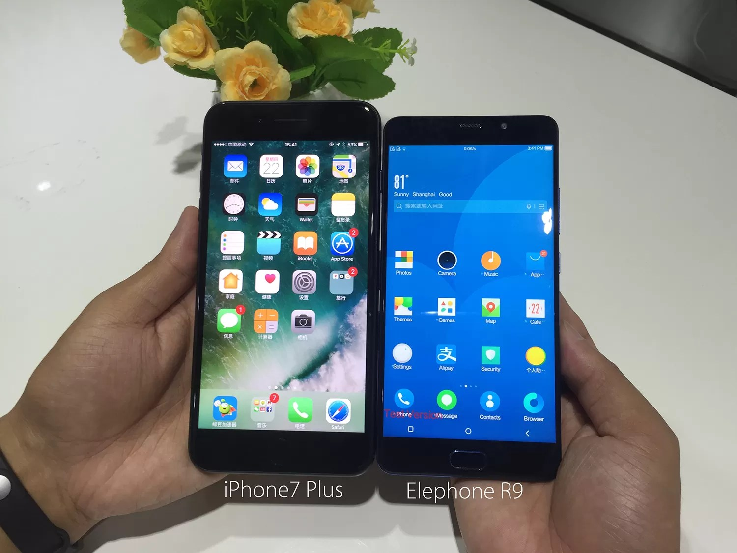 Iphone Misure Elephone R9 Elephone S7 E Iphone 7 Plus Le Dimensioni A