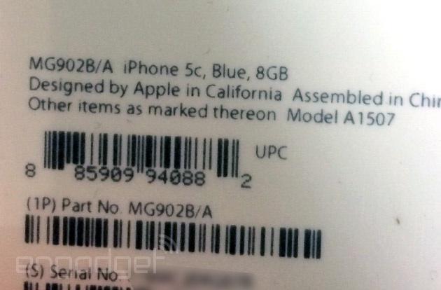 iphone 5c 8gb packaging