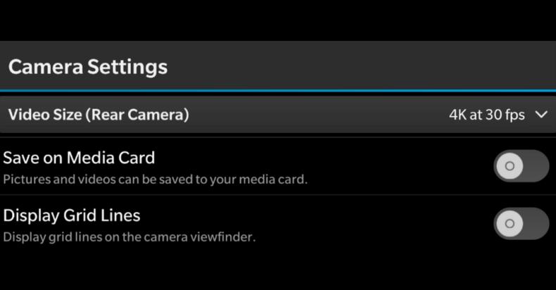 blackberry passport 4k video