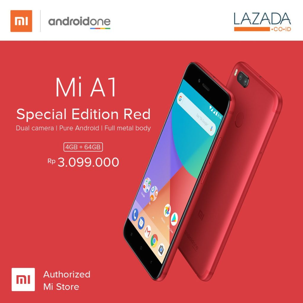 Xiaomi Mi A1 Xiaomi Mi A1 Special Edition Red Officially Launched In Indonesia