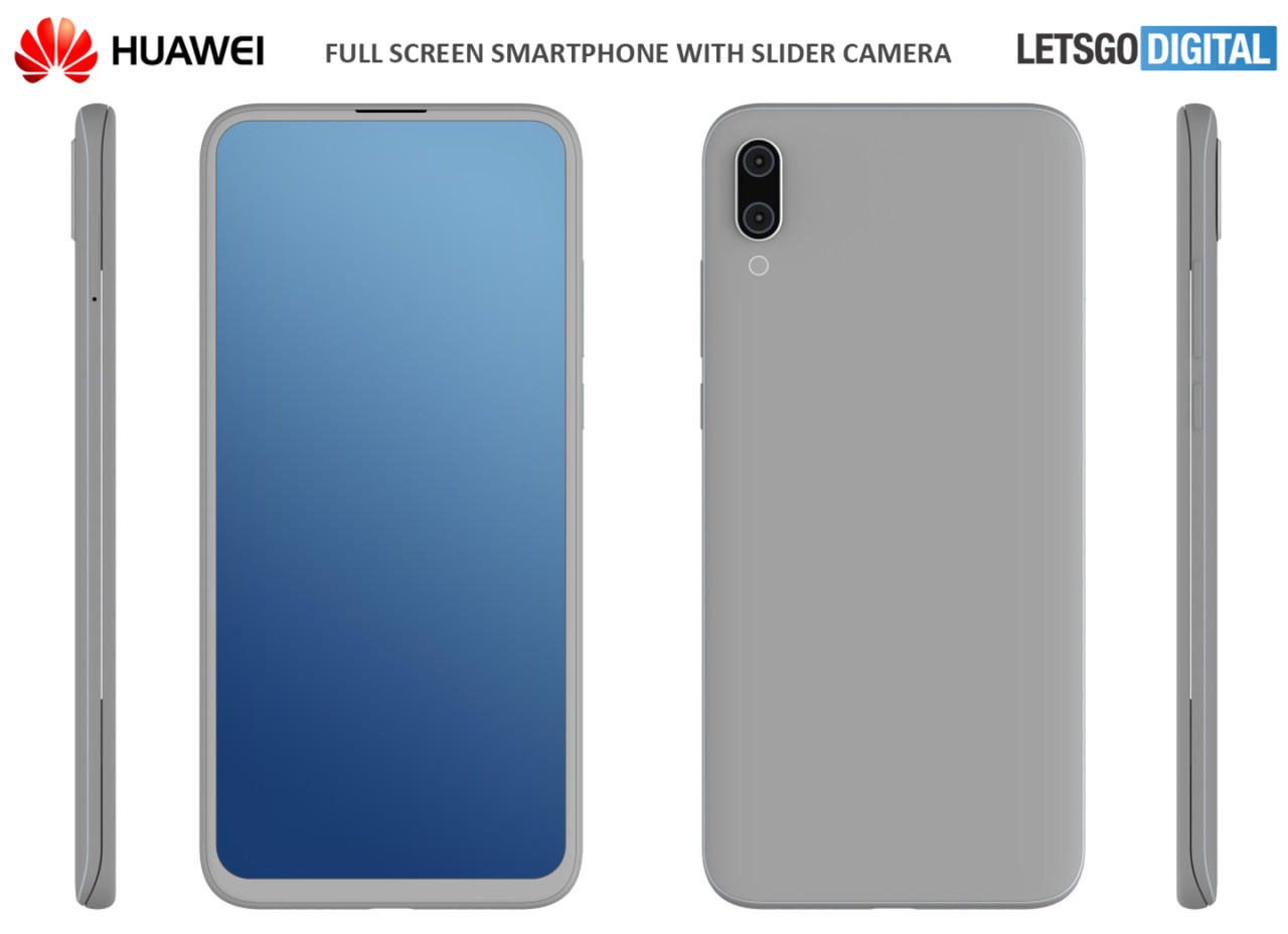 Huawei Smartphone Huawei Patents A Smartphone With Slider Design And Dual Front