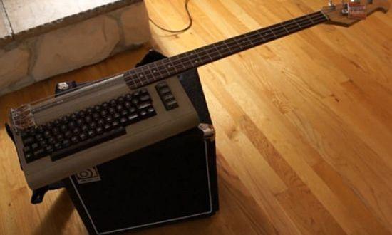 DIYer Jeri Ellsworth creates Commodore 64 hybrid bass keytar