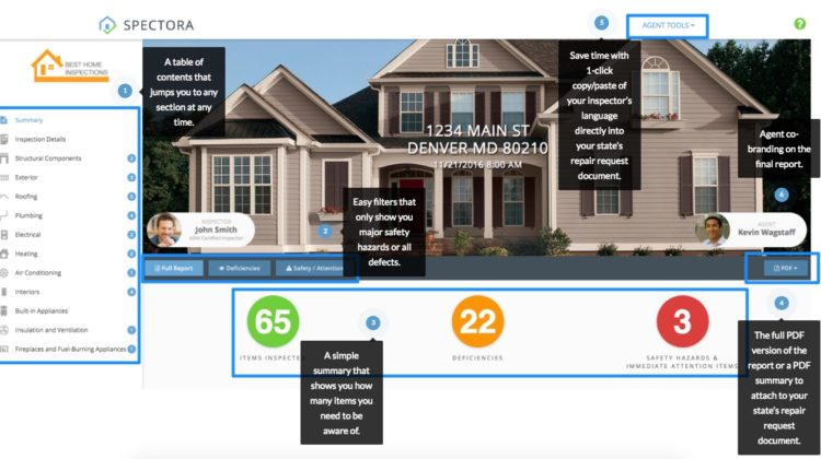 How Spectora Home Inspection Reports Help Real Estate Agents